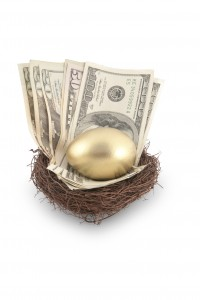 Reverse mortgage income is part of a nest egg.